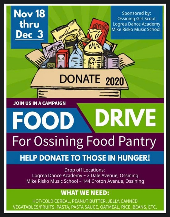 Ossining Food Pantry food drive