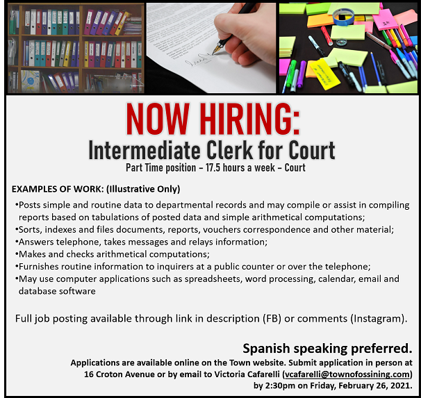 Intermediate Clerk position