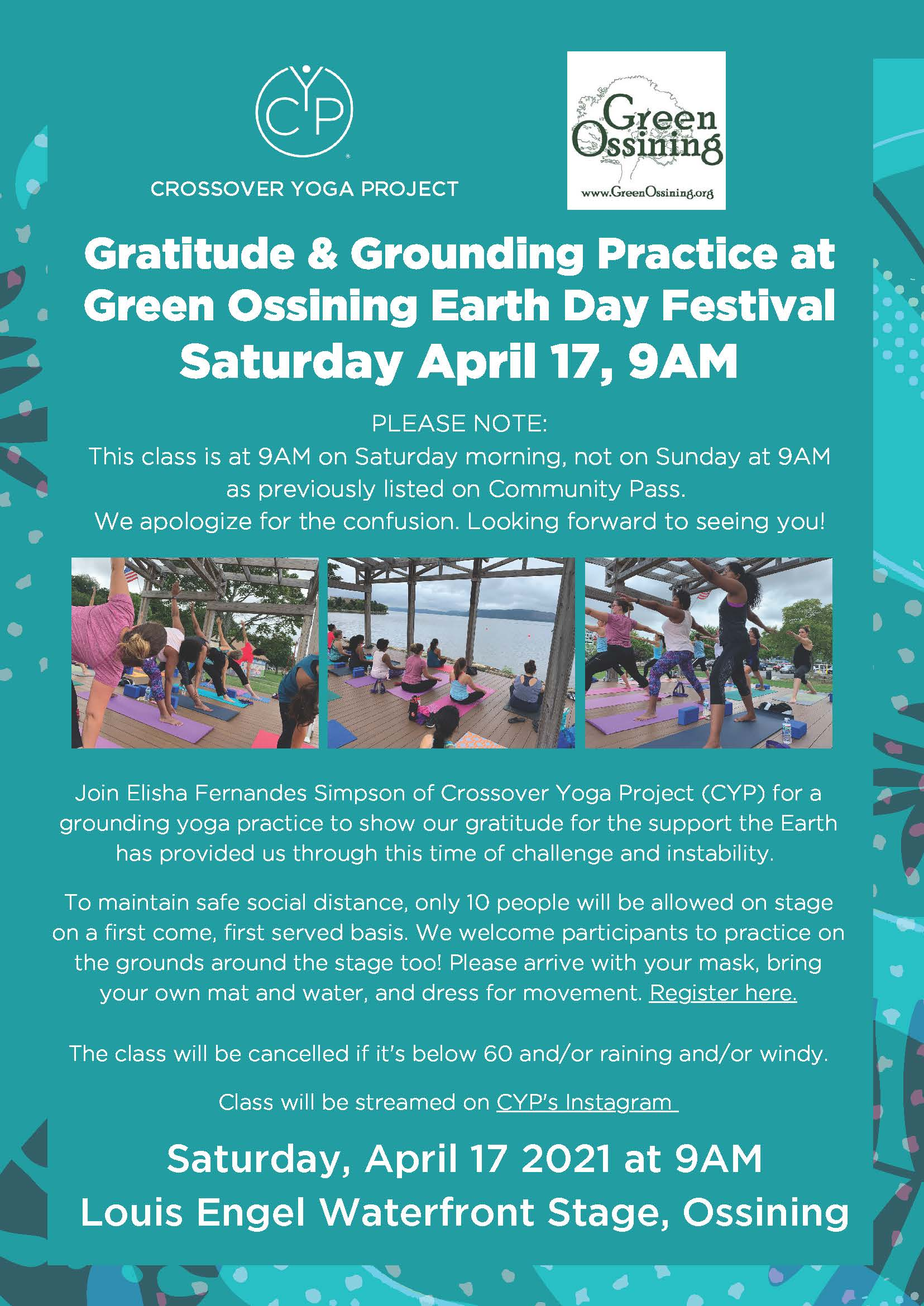 Green Ossining Earth Day Yoga Class Flyer update